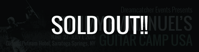 Tommy Emmanuel's Guitar Camp USA is SOLD OUT!